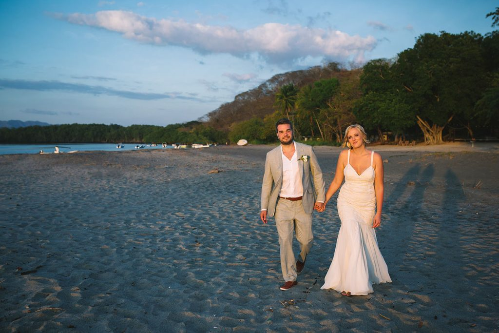 Bride Groom Costa Rica Beach Wedding