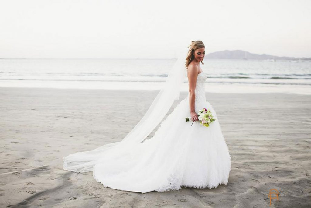 Bridal Portraits Costa Rica Beach Wedding