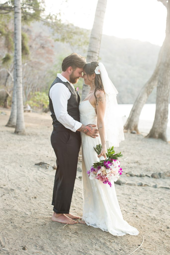 Bride Groom Playa Hermosa Costa Rica Beach Wedding