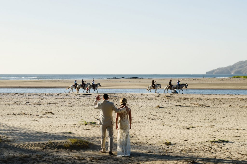 Horses at Costa Rica Beach Wedding Tamarindo