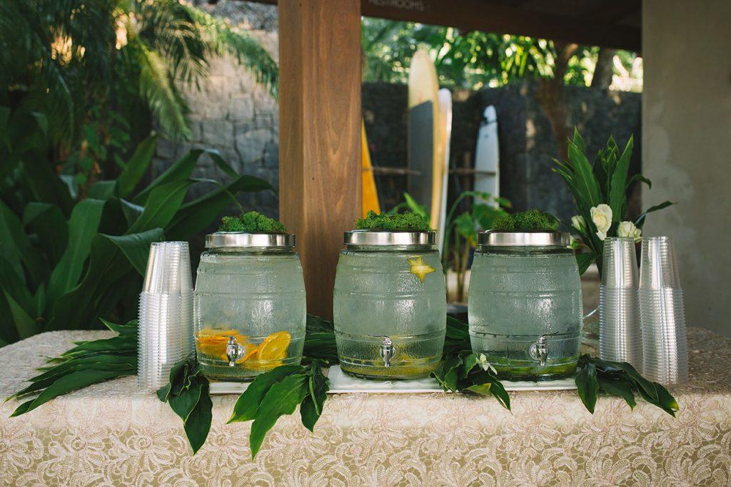 Water Bar Costa Rica Wedding