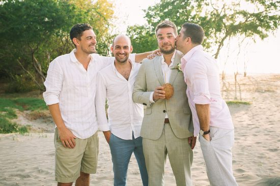 Groomsmen Costa Rica Wedding Tamarindo