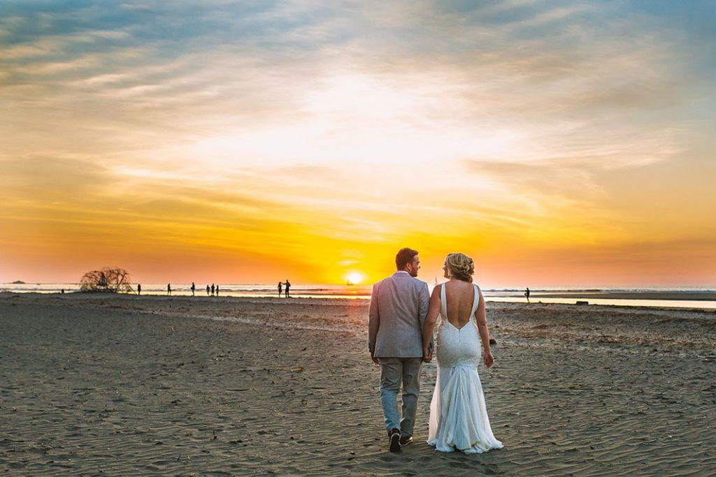 Sunset Costa Rica Beach Wedding