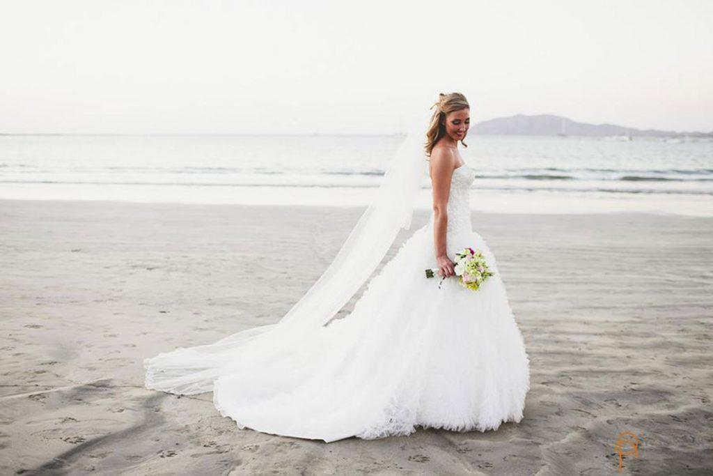 Bridal Portraits Costa Rica Beach Wedding