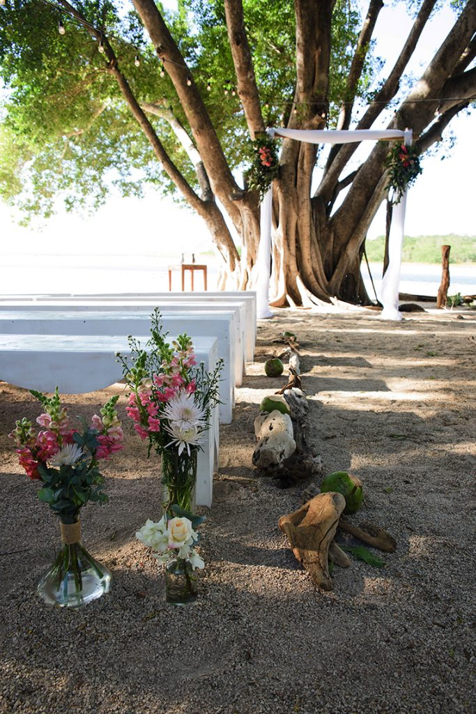 Ceremony Aisle Decor Costa Rica Wedding