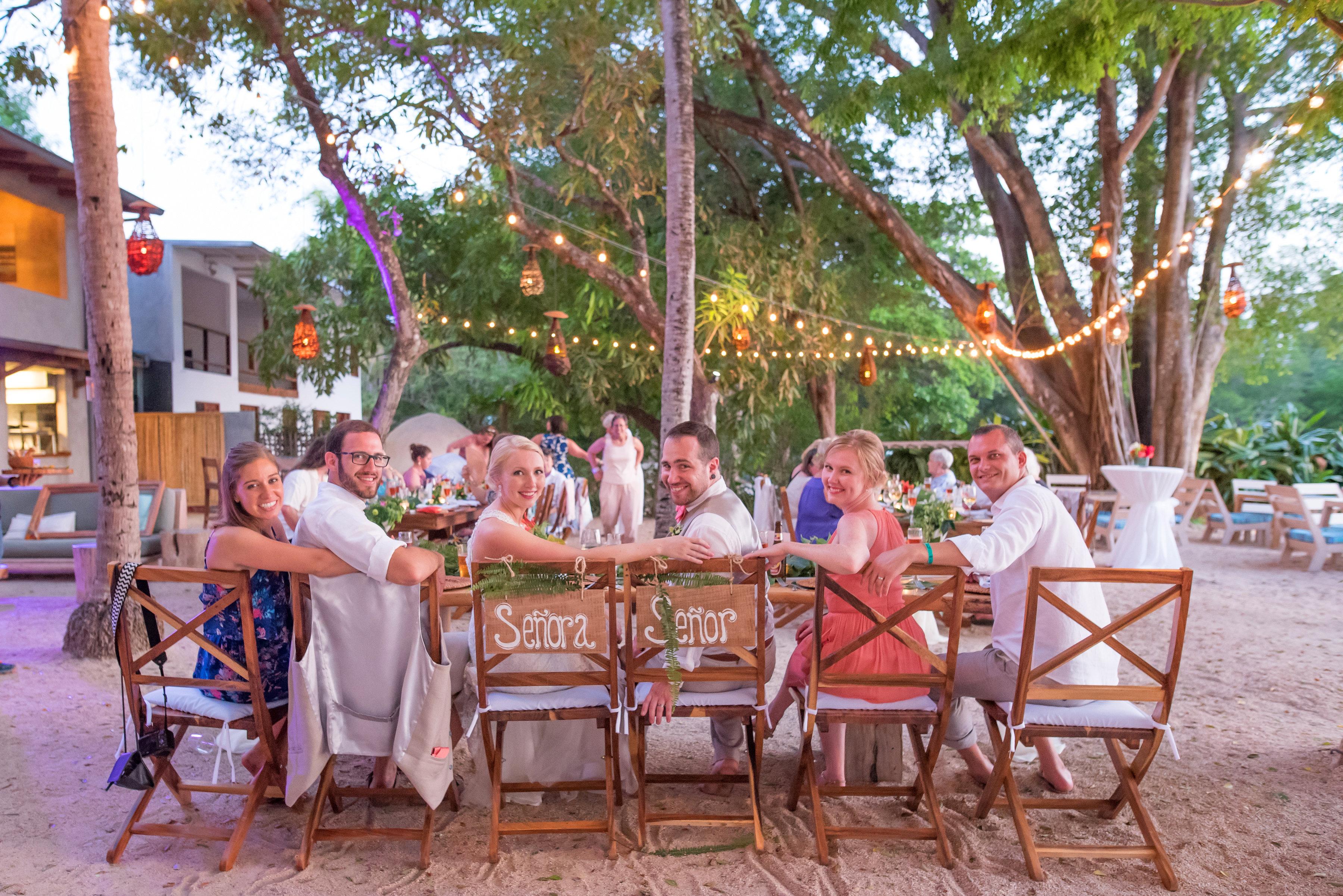 Tropical Wedding reception venue