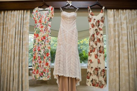 Tropical Flower Bridesmaid Dresses Reserva Conchal Costa Rica Wedding Planner Meghan Cox Mil Besos, Photographer Madison Baltodano