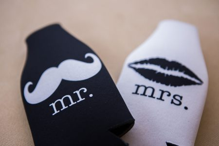 Mr and Mrs Drink Cozies Destination Wedding Favor Ideas, Costa Rica Wedding Planner Meghan Cox Mil Besos, Photographer A Brit & A Blonde