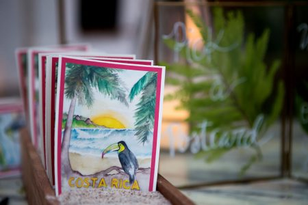 Postcard Guestbook Destination Wedding Ideas, Costa Rica Wedding Planner Meghan Cox Mil Besos, Photographer Madison Baltodano