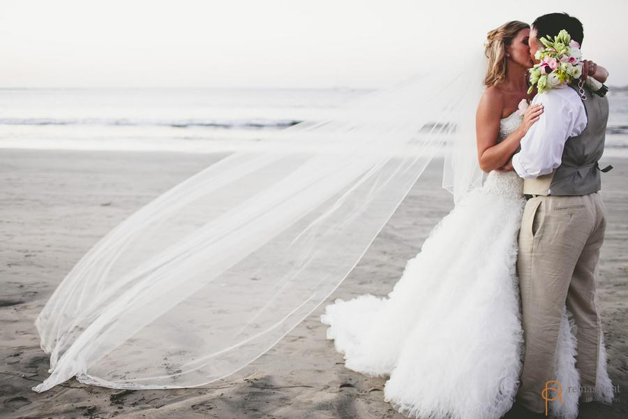 Bride and Groom Playa Tamarindo Costa Rica Wedding Planner Meghan Cox Mil Besos Photographer Renascent Photography