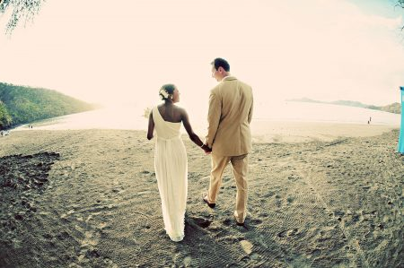 Bride and Groom get Married on Beach in Costa Rica
