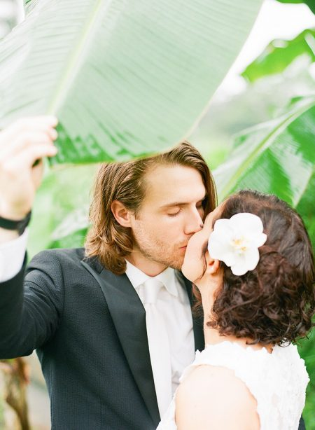 Rainforest Bride and Groom La Fortuna Wedding Planner Meghan Cox Mil Besos, Photographer Lisa Blume Photography