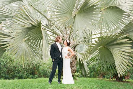 Bride Groom Arenal Volcano Wedding La Fortuna Wedding Planner Meghan Cox Mil Besos, Photographer Lisa Blume Photography