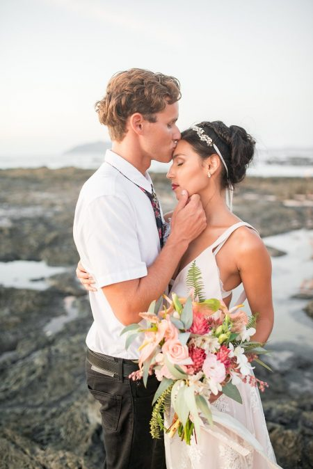 Gorgeous Bouquet!! Costa Rica Beach Wedding Planner Meghan Cox Mil Besos, Photo Haley Augspurger Photography
