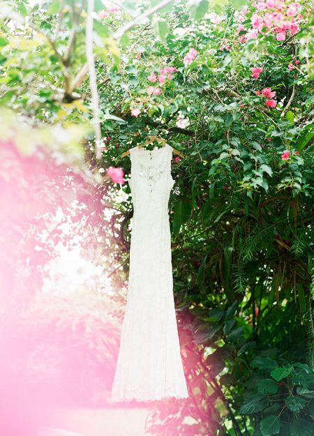 Destination Wedding Dress La Fortuna Wedding Planner Meghan Cox Mil Besos, Photographer Lisa Blume Photography