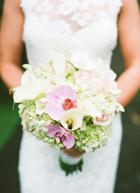 Orchid Bouquet La Fortuna Wedding Planner Meghan Cox Mil Besos, Photographer Lisa Blume Photography