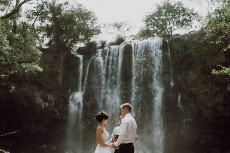 Romantic Waterfall Elopement in Costa Rica Wedding Planner Meghan Cox, Photographer White Diamond Photography