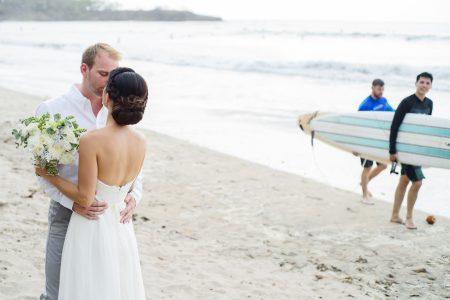 Playa Langosta Beach wedding planner Meghan Cox Photographer Christina Craft Beach Bride Wedding Feature