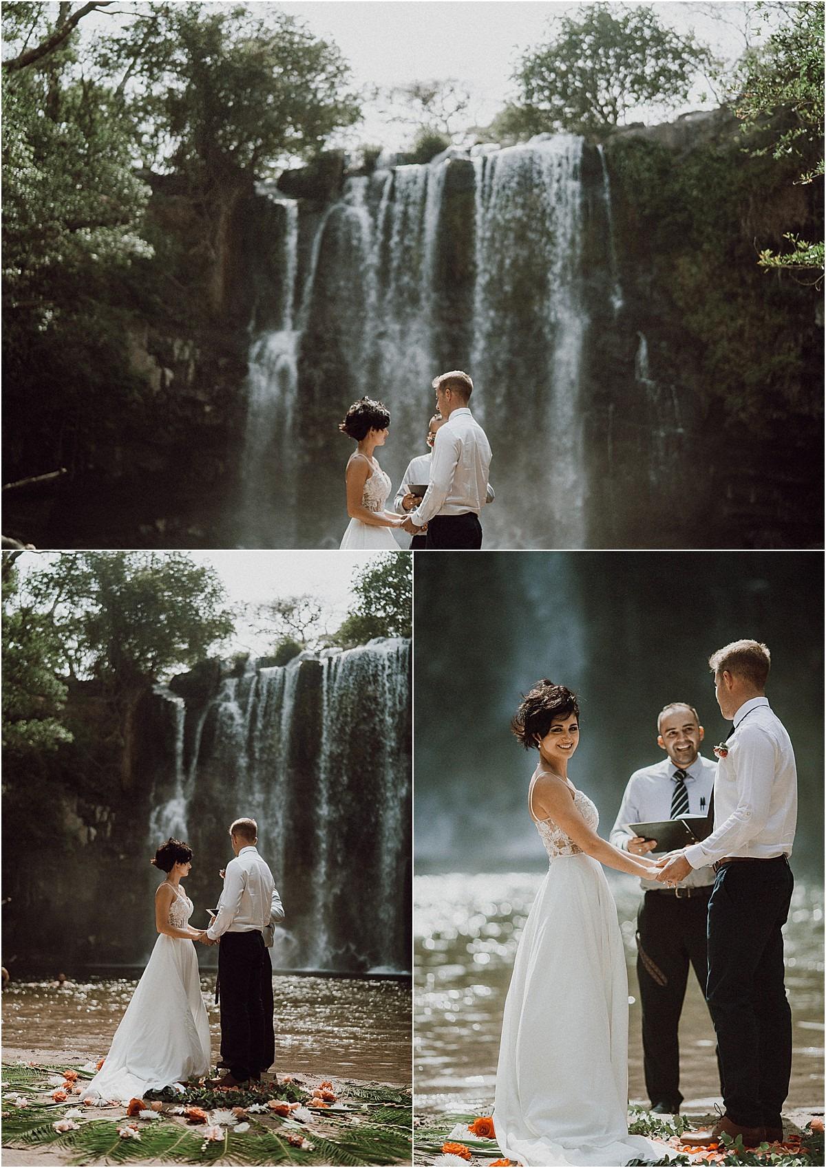 Llanos de Cortez Waterfall Elopement