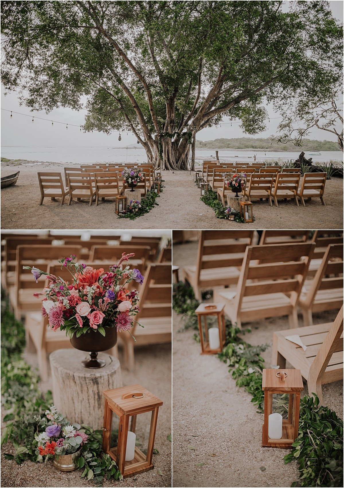Pangas Beach Club Wedding ceremony deoc tropical btight