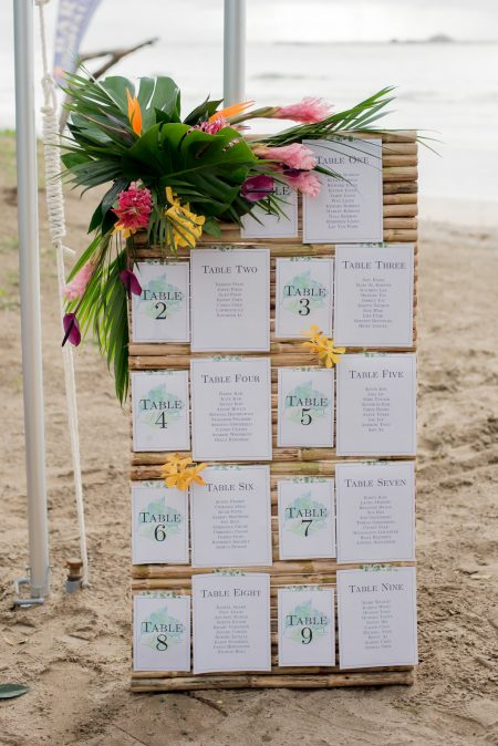 Destination Wedding Seating Chart Costa Rica Wedding Planner Meghan Cox Mil Besos Photographer Sylvia Guardia