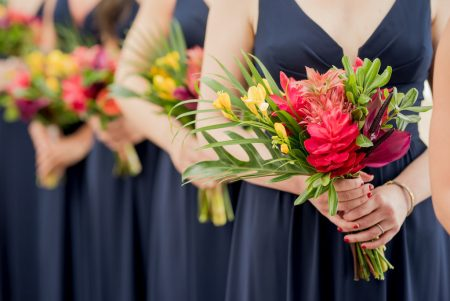 Bridesmaid Bouquets Costa Rica Wedding Planner Meghan Cox Mil Besos Photographer Sylvia Guardia