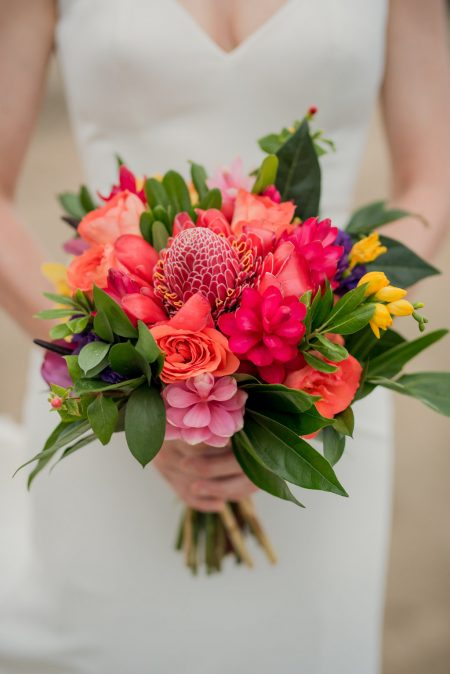 Gorgeous Tropical Bouquet, Costa Rica Wedding Planner Meghan Cox Mil Besos, Photographer Sylvia Guardia