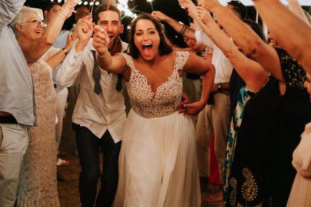 Sparkler Exit Costa Rica, Wedding Planner: Meghan Cox, Mil Besos, Photographer: Costa Vida