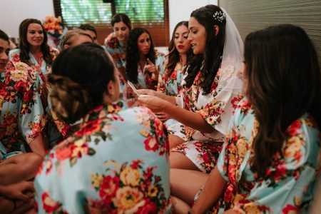 Bride and Bridesmaids Costa Rica Wedding