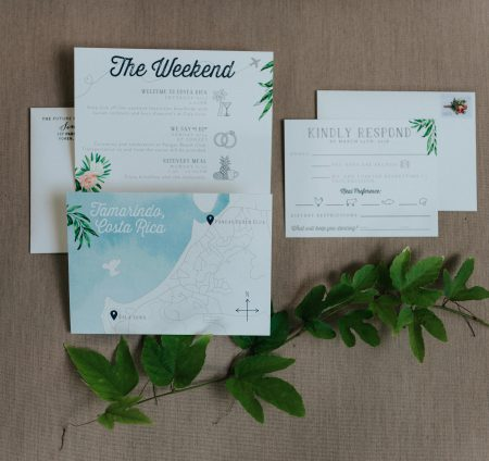 Costa Rica Invitation Suite, Destination Wedding Invitation Ideas, Costa Rica Wedding Planner Meghan Cox Mil Besos, Photographer Costa Vida