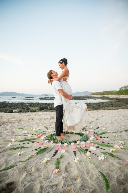 Flower Ceremony Mandala Tamarindo Costa Rica Wedding Planner Meghan Cox Mil Besos, Photo Haley Ausperger Photo
