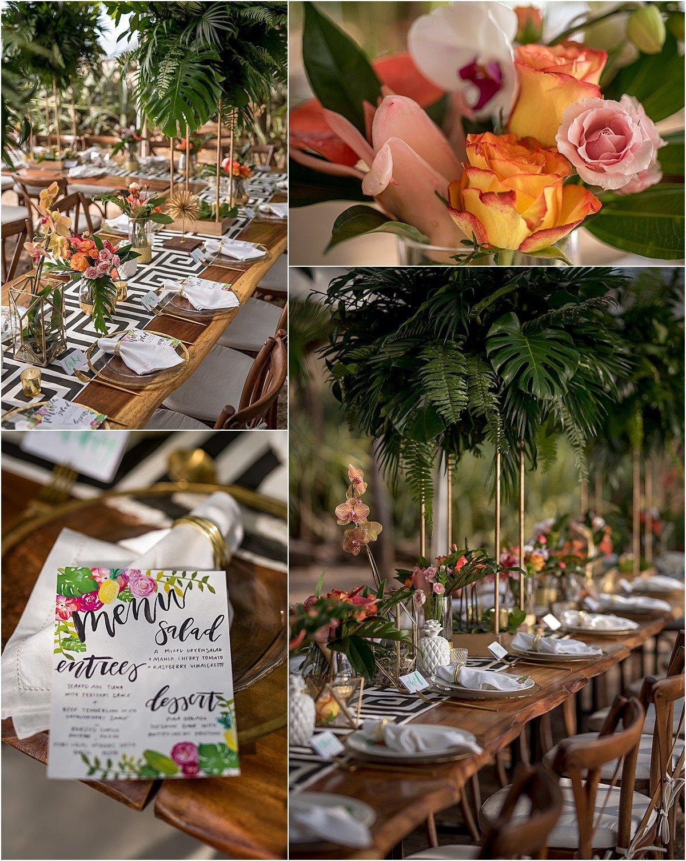 beautiful costa rica wedding menu