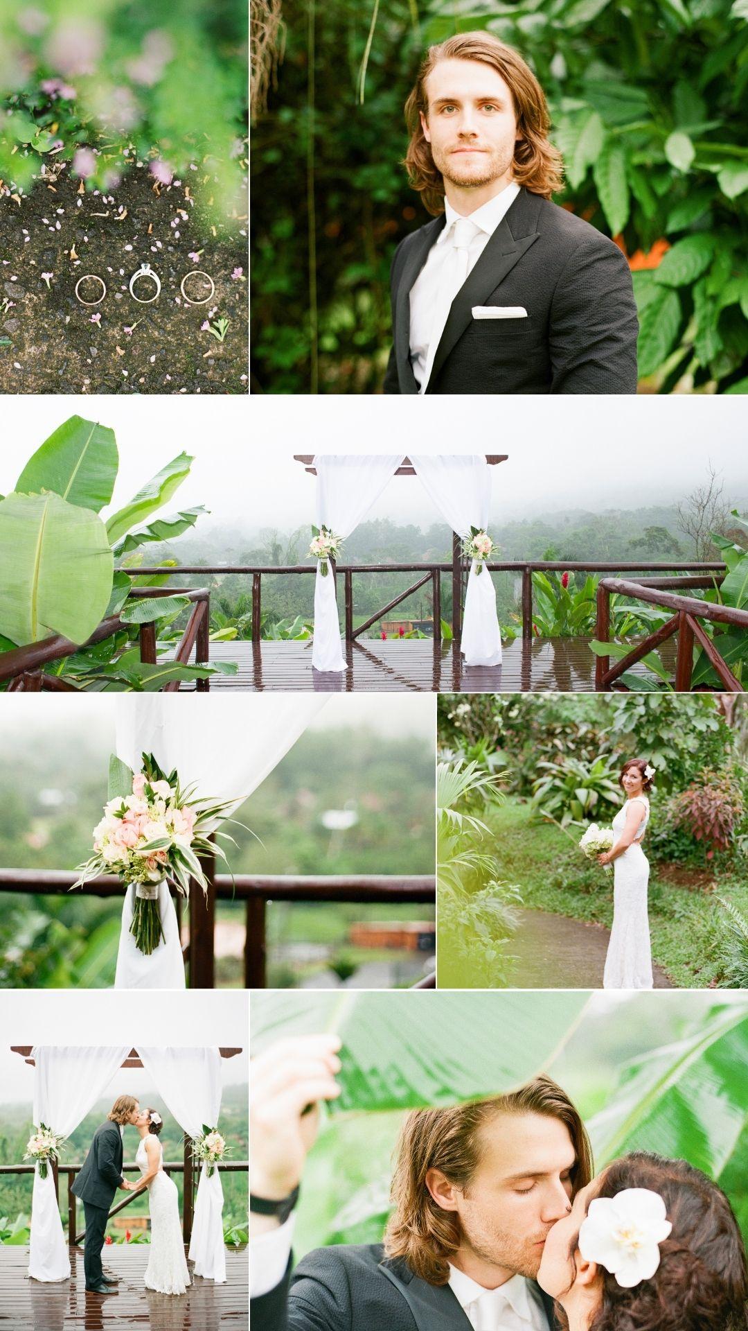 ceremony in the rain in costa rica jungle