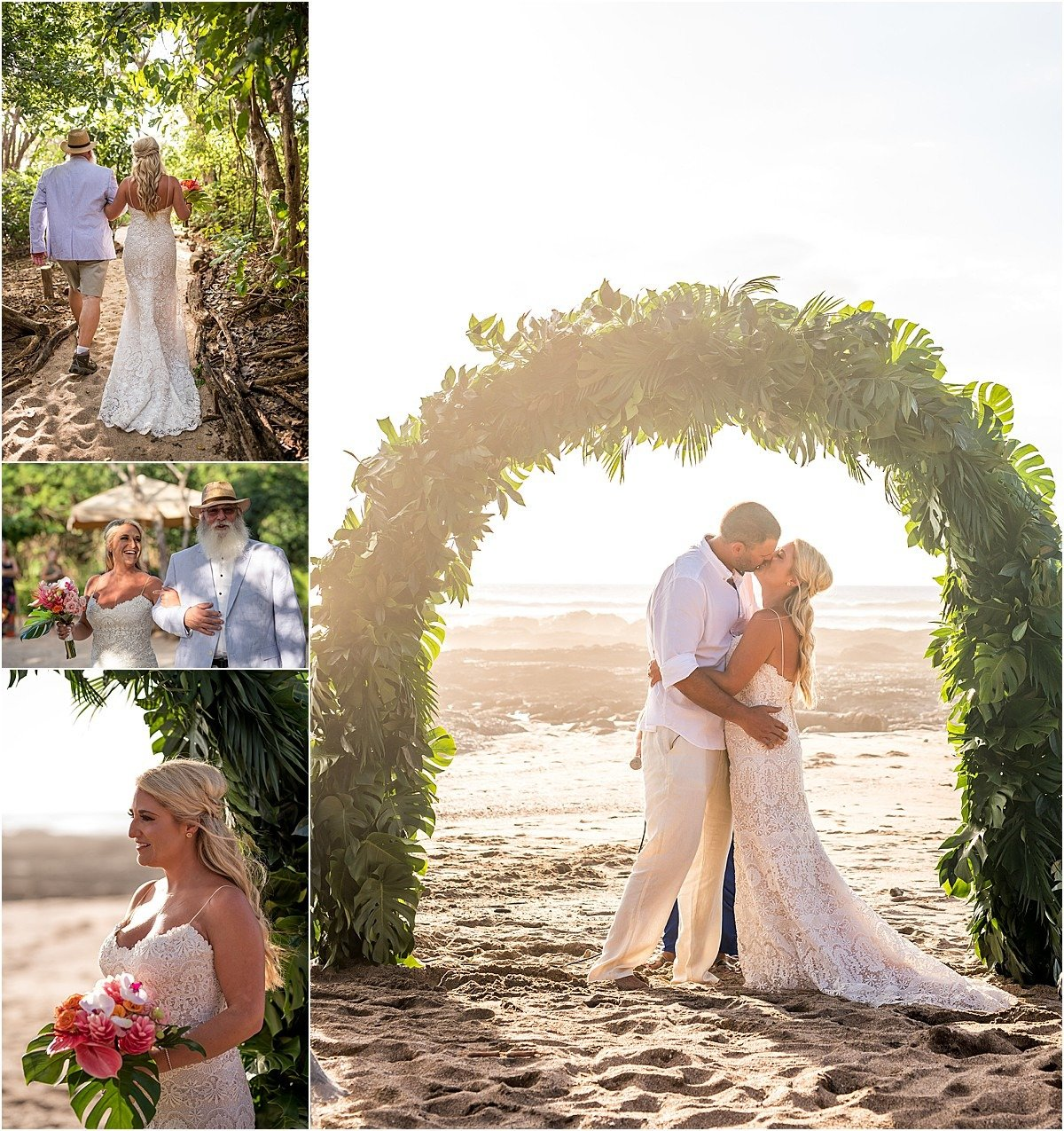 ceremony on the beaches on Costa Rica