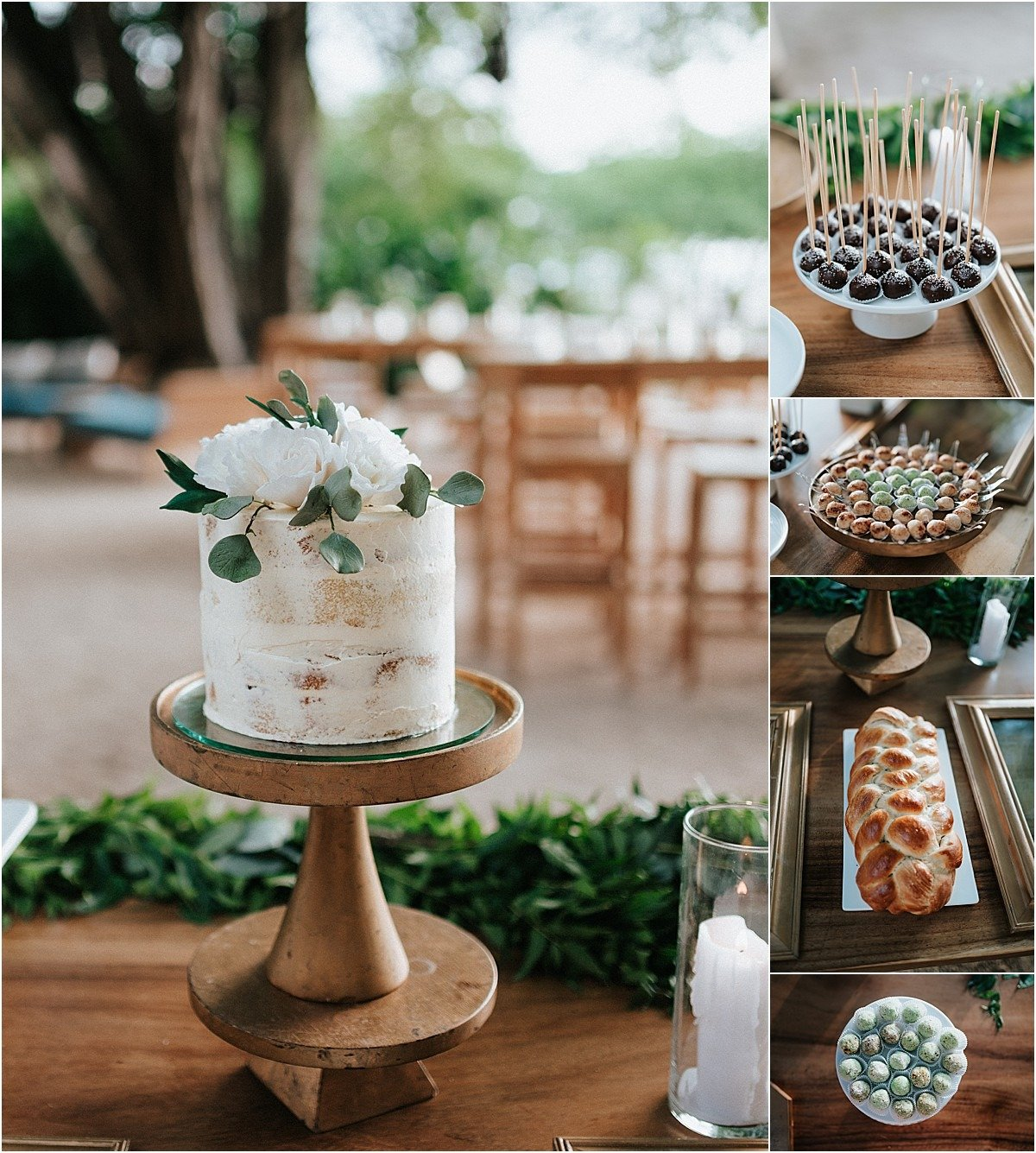 naked cake and sweet table