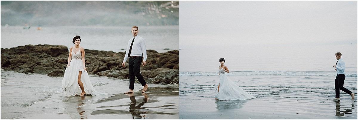 playa hermosa beach elopement