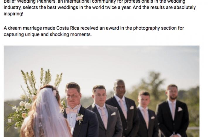 Revista Perfil featured in Argentina features Costa Rica Wedding