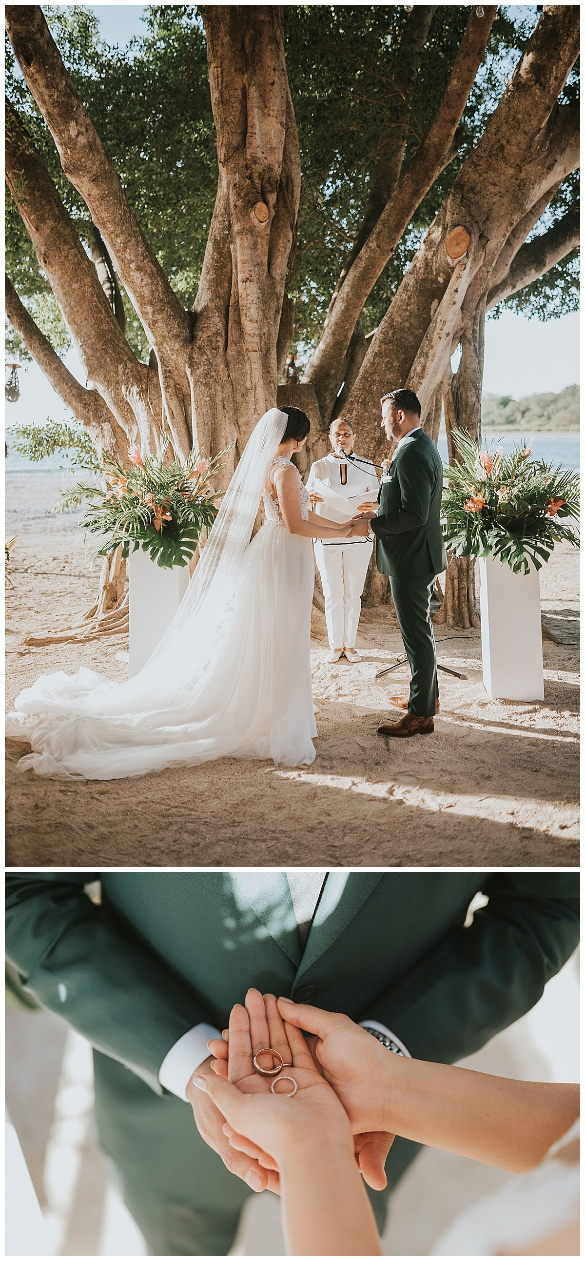 Bride Groom Ceremony Mil Besos Wedding Pangas Tamarindo Costa Rica