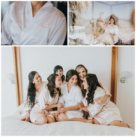 Bridesmaids Makeup Robe Mil Besos Wedding Pangas Tamarindo Costa Rica