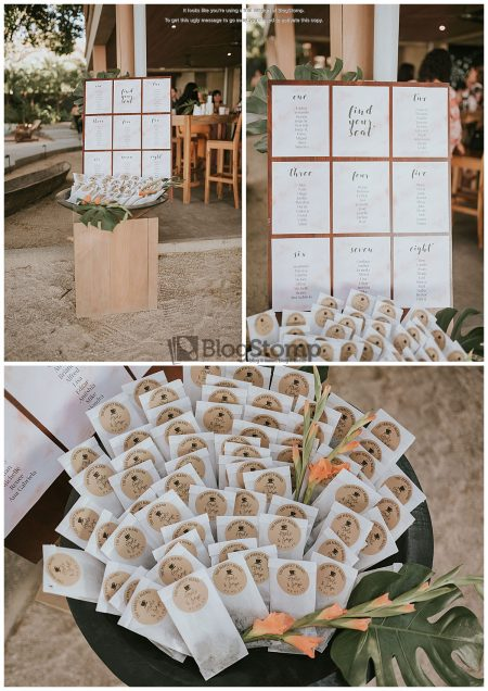 Coffee Favors Seating Chart Mil Besos Wedding Pangas Tamarindo Costa Rica