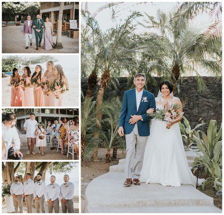 Father Bride Bridesmaids Groomsmen Mil Besos Wedding Pangas Tamarindo Costa Rica