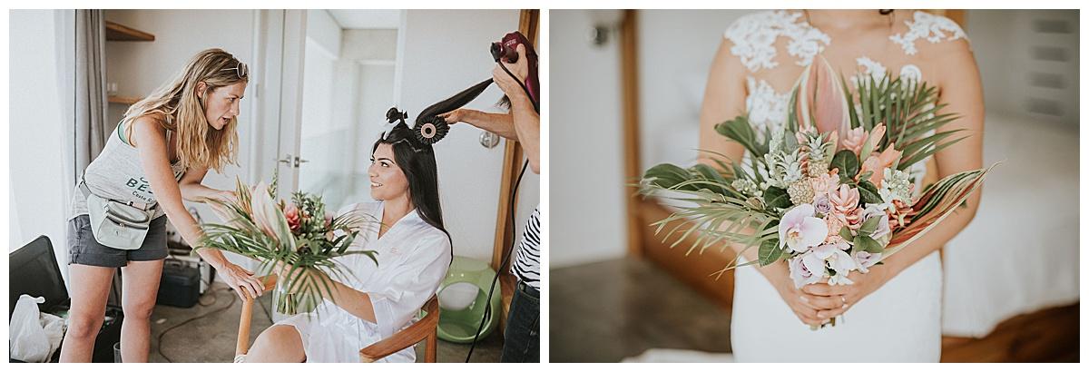 Wedding Planner Meghan Cox Bride Bouquet Mil Besos Wedding Pangas Tamarindo Costa Rica