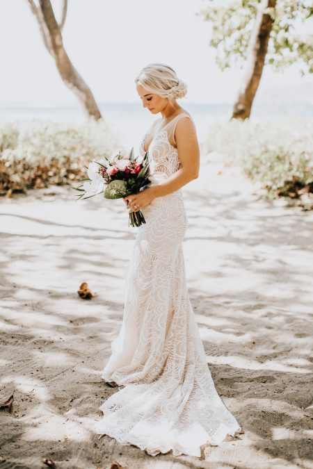 Destination Wedding Bride Beach Style