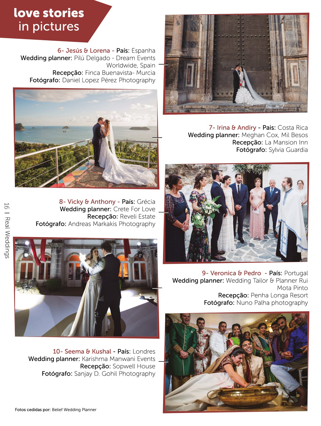 Revista Eventos de Sonho Portugal Costa Rica Wedding