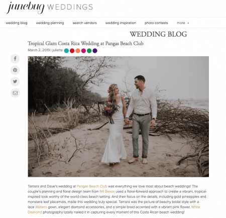 featured by Junebug Weddings
