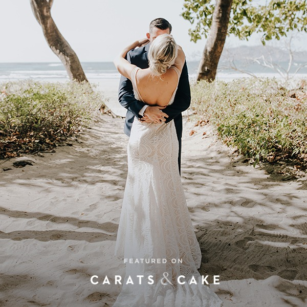 Beach wedding in Costa Rica featured by Carats & Cake