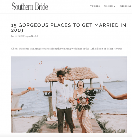 Southern Bride Magazine Gorgeous Destinations to get married