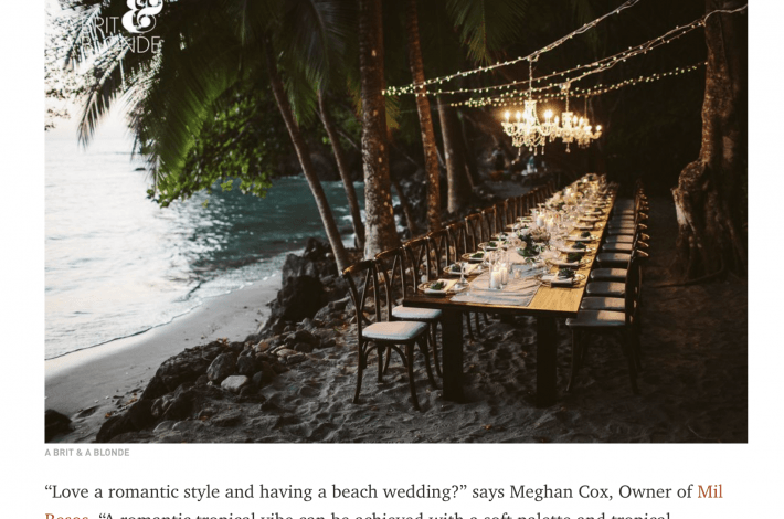 Town & Country Magazine Quotes Meghan Cox, Destination Wedding Planner