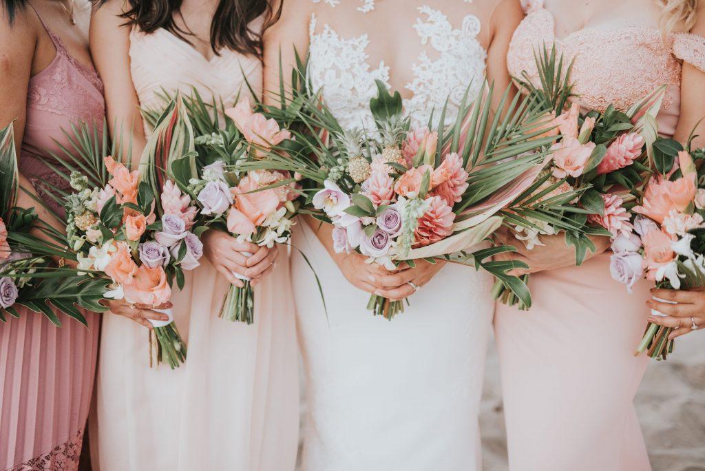 Wedding Bouquet Shapes and Styles Tropical Flower design destination wedding