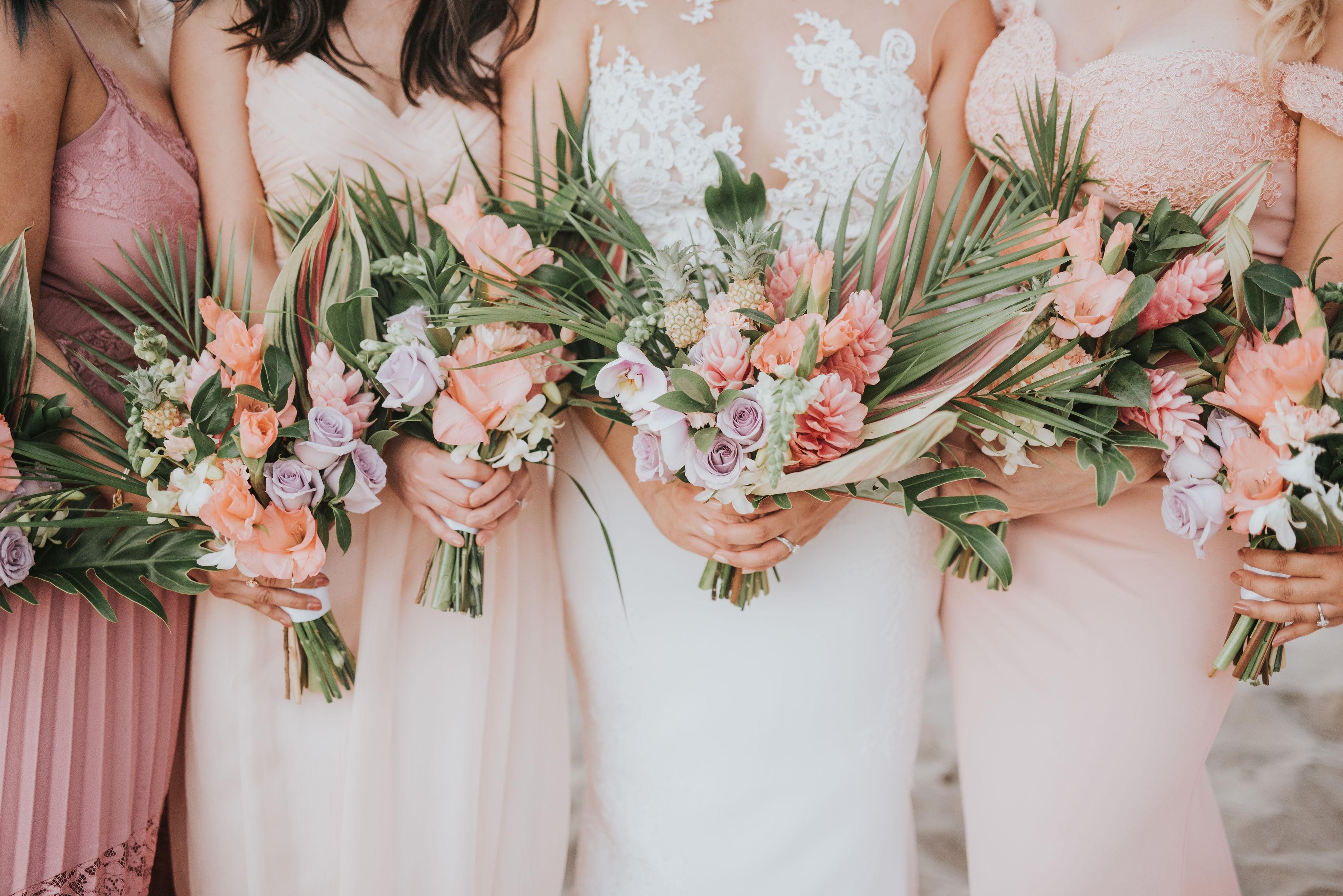 Tropical Flower design destination wedding